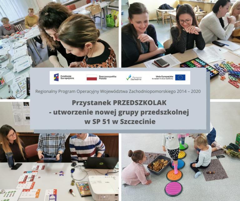 Przystanek PRZEDSZKOLAK – utworzenie nowej grupy przedszkolnej  w SP 51 w Szczecinie